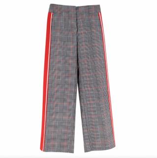 Monse Black & White Checkered Side Stripe Trousers