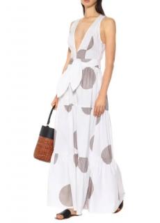 Alexandra Miro Raphaela Polka-Dot Cotton Maxi Dress