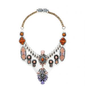 Shourouk Crystal Embellished Bib Necklace