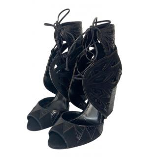 Serigo Rossi Black Suede & Leather Chunky Booties