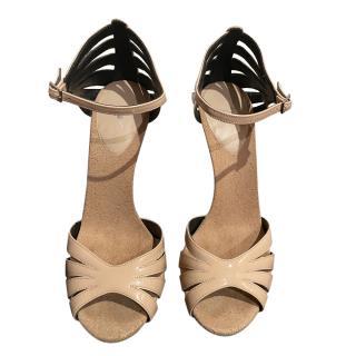 Giuseppe Zanotti Pale Pink Patent Sandals