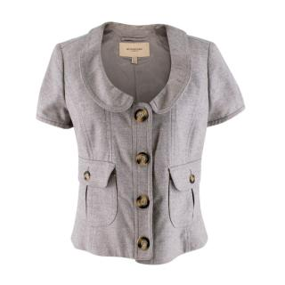 Burberry Grey Wool Button-up Jacket