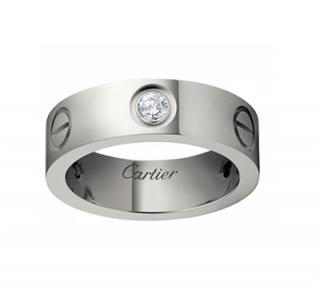 Cartier 18kt White Gold 1 Diamond Love RIng