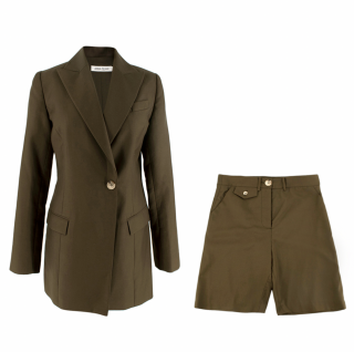 Anna Quan Olive Blazer and Shorts Set