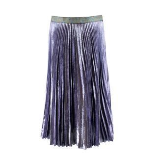 Christopher Kane Silk-blend Lurex Pleated Skirt