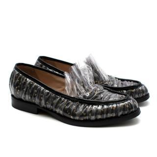 Midnight 00 Black Tulle & PVC Polka Dot Antoinette Loafers