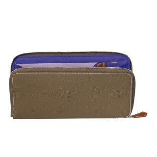 Hermes Epsom Leather Large Silk�in classic wallet