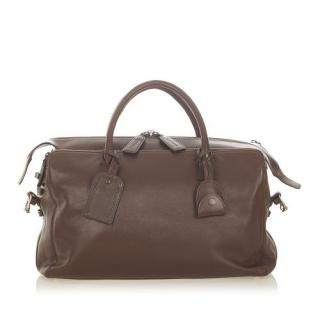 Chanel Brown CC Leather Travel Bag