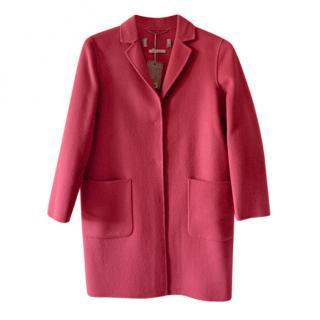 Max Mara Pink Wool Blend Coat