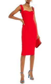 Victoria Beckham Red Curve Cami Dress