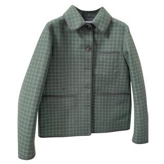 Dior Green Plaid & Oblique Reversible Jacket