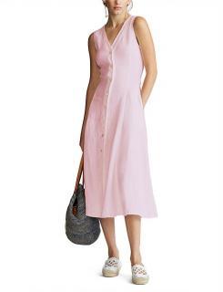 Polo Ralph Lauren Pink Linen Button Down Dress