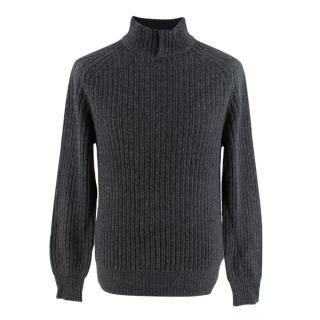Ermenegildo Zenga Cashmere Blend Grey Sweater