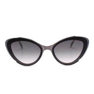 Alexander McQueen Grey Cat Eye Sunglasses