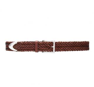 Rag & Bone Brown Braided Leather Belt