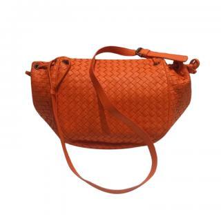 Bottega Veneta Orange Intrecciato Messenger Bag