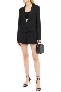 Saint Laurent Black Open Wool Blazer