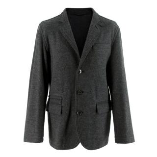 Ermenegildo Zegna Dark Grey Wool Single Breasted Jacket
