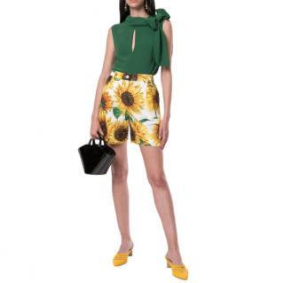 Dolce & Gabbana sunflower-print shorts