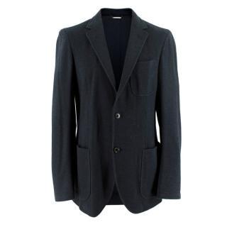 Ermenegildo Zegna Navy Wool blend Single Breasted Jacket