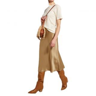 Polo Ralph Lauren Gold Satin Slip Skirt