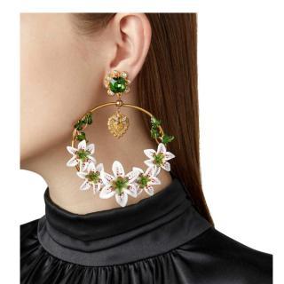Dolce & Gabbana Lily Hoop Earrings