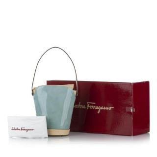Ferragamo Patent Leather Bucket Bag