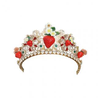Dolce & Gabbana Crystal Embellished Strawberry Tiara