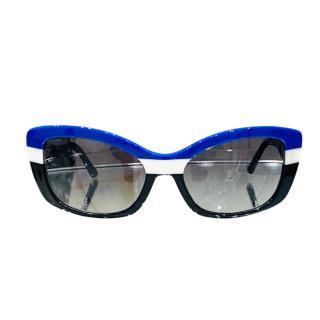 Prada Black, Blue & White SPR03N Sunglasses