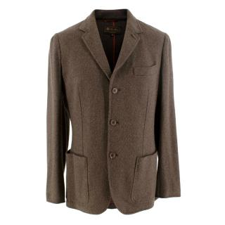 Loro Piana Brown Single Breasted Cashmere Jacket