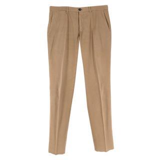 Ermenegildo Zegna Beige Cotton Blend Trousers