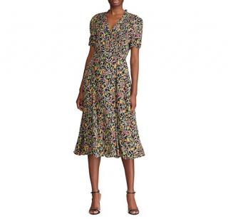 Polo Ralph Lauren Floral Multicoloured Silk Blend Dress