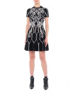 Alexander McQueen Black & White Knit Mini Dress