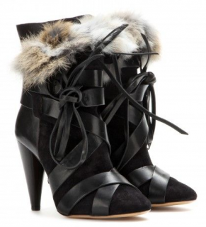 Isabel Marant Neta suede & leather ankle boots