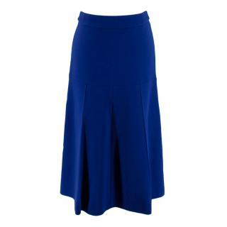Stella McCartney Wool Crepe Blue Skirt