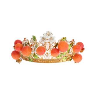 Dolce & Gabbana Crystal Embellished Oranges Tiara