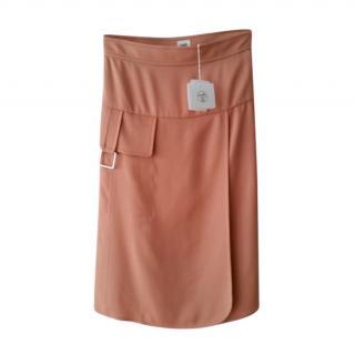 Hermes Rose Bubinga Esprit Silk Crepe Skirt