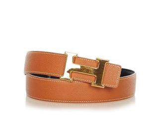 Hermes Constance Belt Buckle & Reversible Leather Strap GHW - Size 65