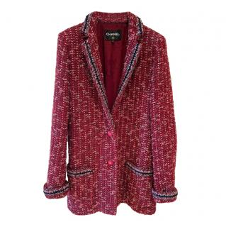 Chanel 2018 Red & Black Tweed Tailored Jacket