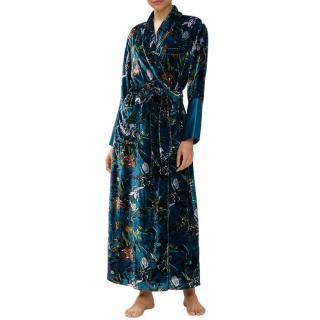 Olivia Von halle Capability Torment floral-print velvet robe