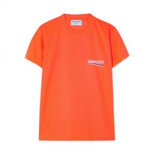 Balenciaga Orange Political T Shirt