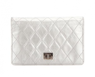 Chanel Bi-Fold Silver Reissue Long Wallet