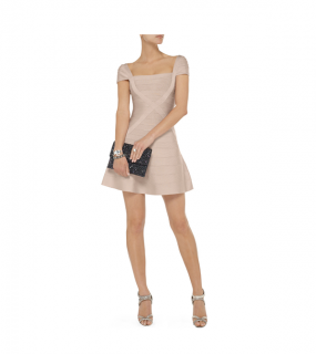 Herve Leger Makayla Bandage Mini Dress