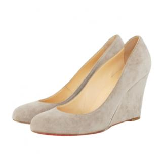 Christian Louboutin Suede Wedge Pumps