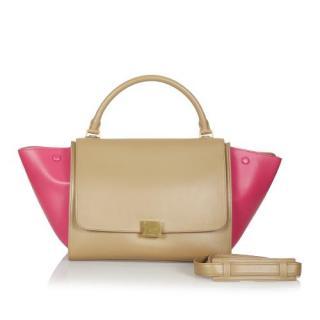 Celine Bi-Colour Leather Trapeze Tote Bag