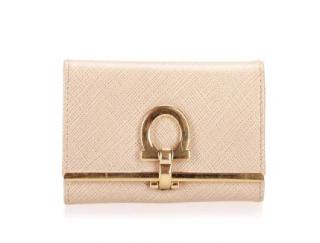 Ferragamo Gancini Leather Key Case