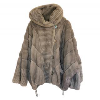 Vtoroy Mekhovoy Hooded Mink Fur Coat