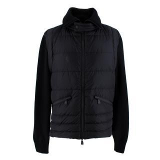 Moncler Black Bi-Fabric Cardigan