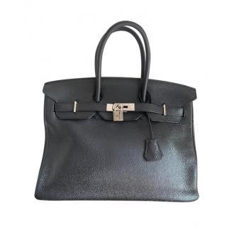 Hermes Black Togo Leather Birkin 35 PHW