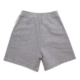 Gucci Grey Cotton Side Web Stripe Shorts